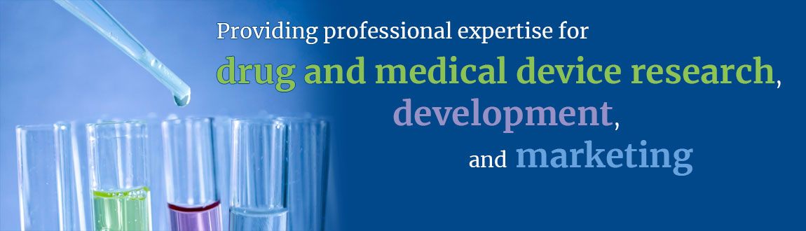 Providing professional expertise for drug and medical device research, development, and marketing